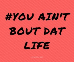 lil wayne quote you ain't bout dat life