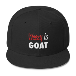 weezy is goat lil wayne snapback black