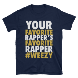 Lil Wayne T-Shirt Your Favorite Rapper's Favorite Rapper Blue